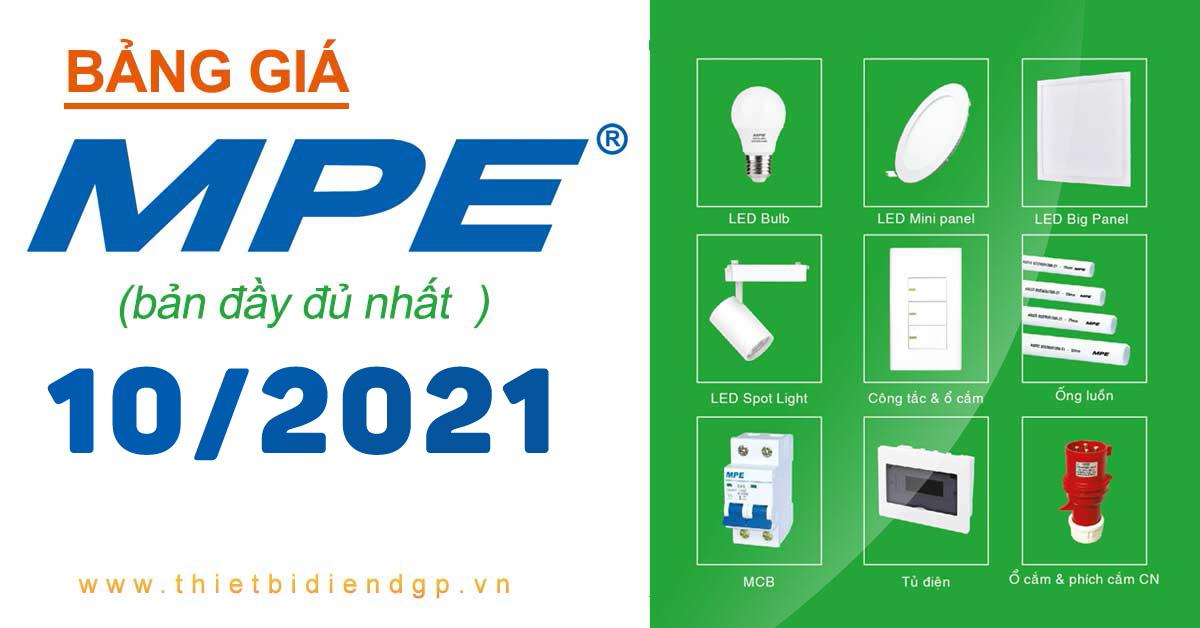 Bảng Giá MPE 10/2021