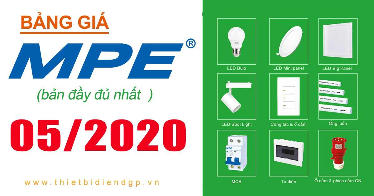 Bảng giá MPE 05/2020 (bản đầy đủ)