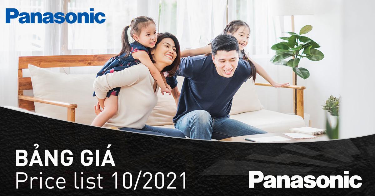 Catalogue Bảng giá Panasonic Tháng 10/2021