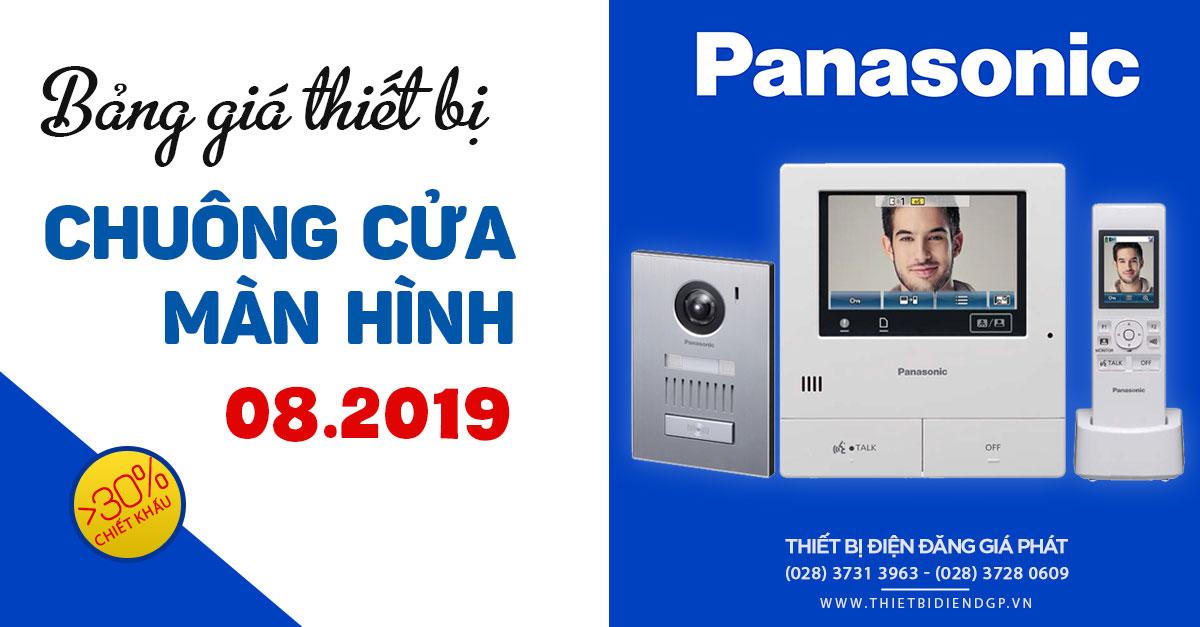 Bảng Giá Chuông Cửa Màn Hình Panasonic mới nhất 2019