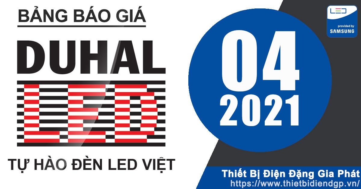 Bảng Giá Đèn DUHAL 2021 (tháng 4, Quyển A,B,C)