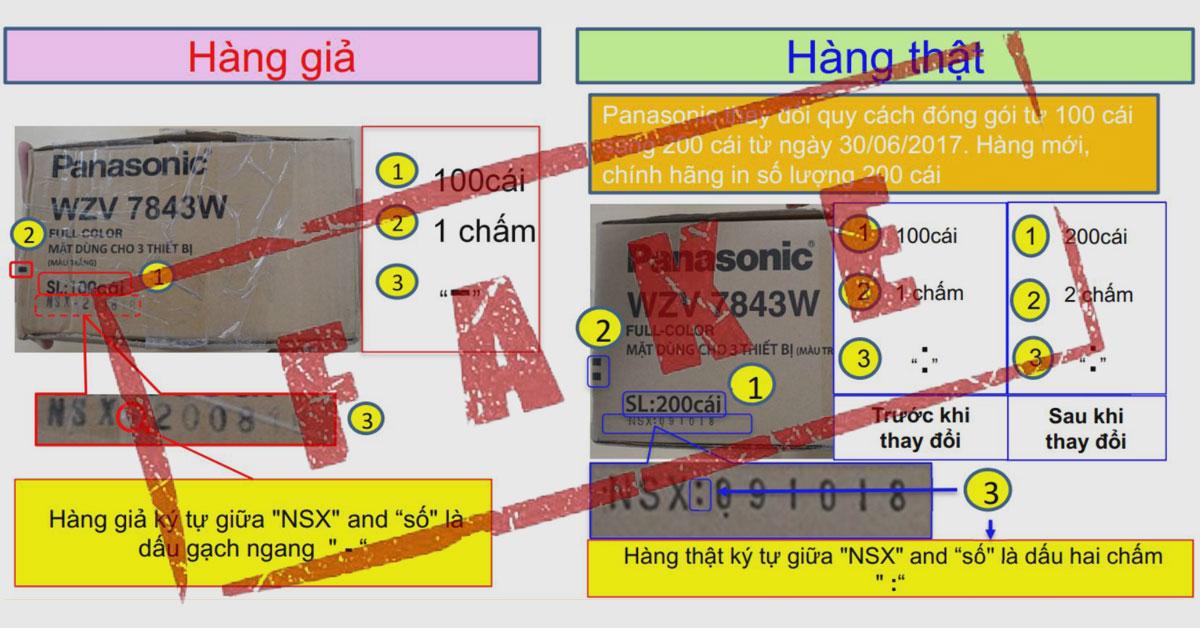 Phân biệt hàng giả Panasonic (31/10/2018)