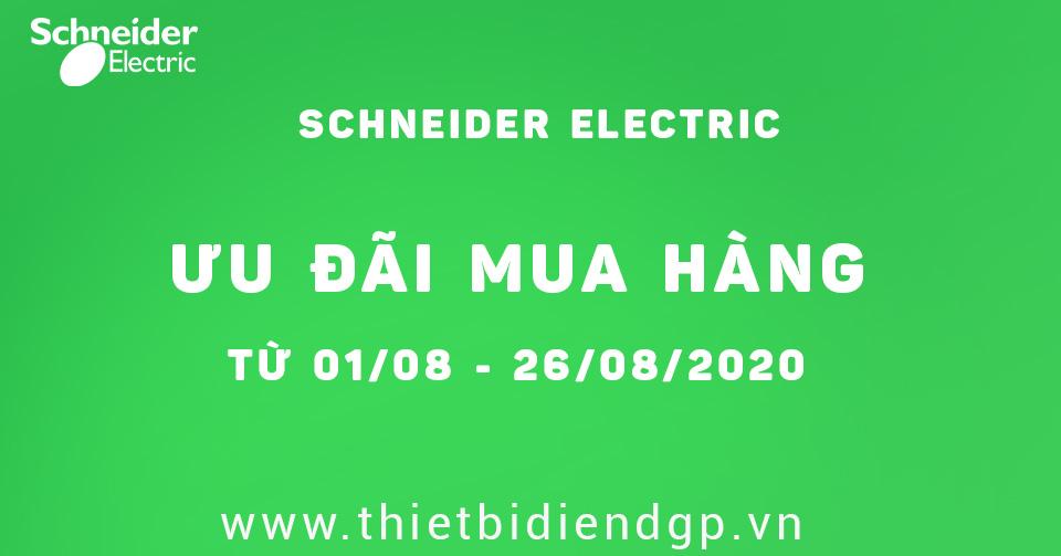 Schneider khuyến mãi với nhiều ưu đãi từ 01/08 ─ 26/09/2020