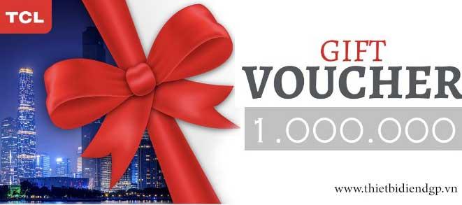 [CTKM] TCL tặng Voucher 1 triệu VND cho đơn hàng sản phẩm trên 3 triệu VND