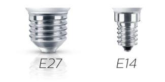 đui dèn E27, E14 phổ biến