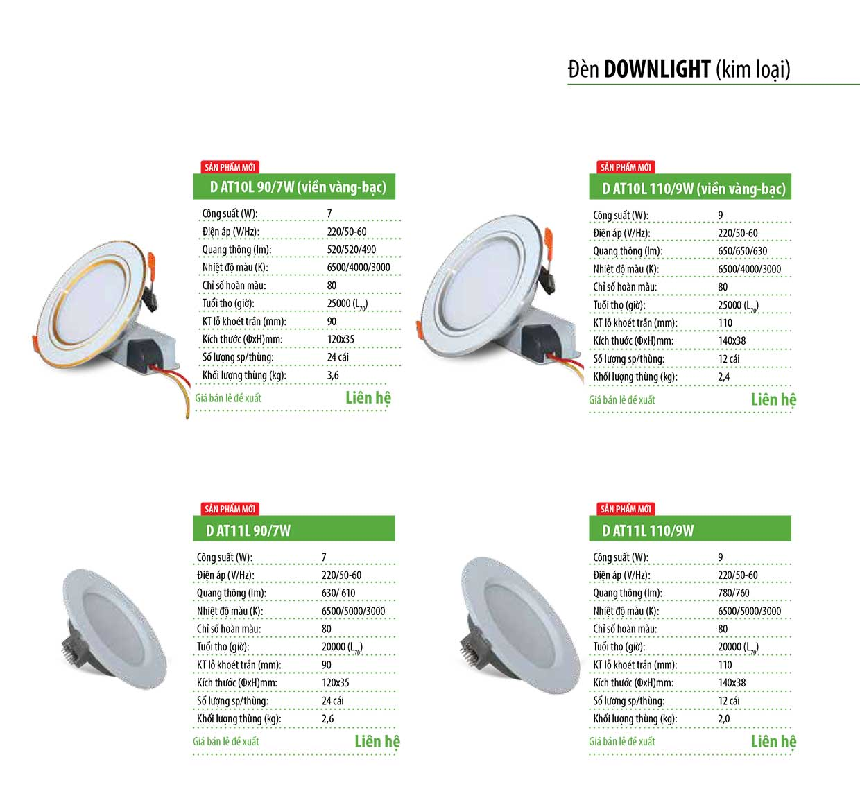 Đ 232 N Led Downlight Kim Loại Rạng Đ 244 Ng D At04l 90 Xxw E