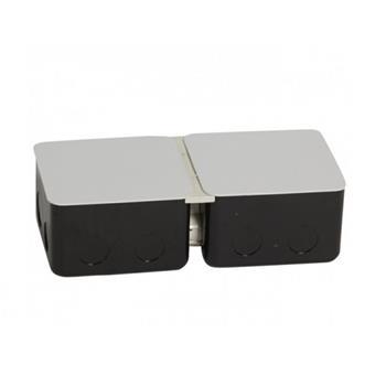 Đế âm kim loại, 6 module (2×3) – 054002 0 540 02