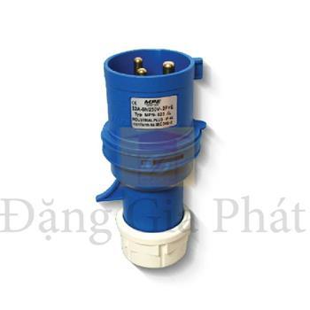 Phích cắm loại di động có kẹp giữ dây 2P+E - IP67 MPN-0132