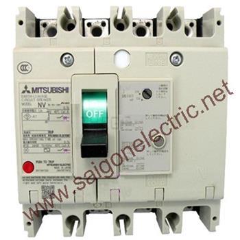 Thiết bị đóng cắt chống rò điện ELCB 4P chỉnh dòng 63-125A 36kA 30/100/200/500mA NV125-SEV 4P 63-125A 36kA 30/100/200/500mA CE