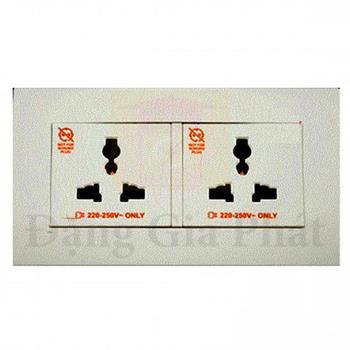 Bộ ổ cắm đôi đa năng 13A KBT413S_AS_G19