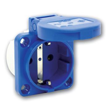 Ổ cắm gắn âm có nắp 2P - 16A - 250V - IP54 F1050-0B