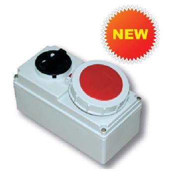 Ổ cắm công nghiệp kèm công tắc 3P 230V/ 5P 400V 6H IP67 F61132-6