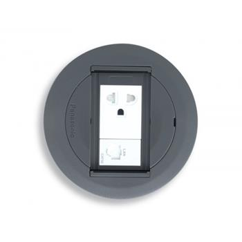 1 ổ cắm có dây nối đất có màng che & 1 ổ data RJ45-8P8C-CAT5 DU81835HTC-1-A