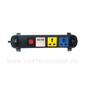 Ổ cắm kéo dài đa năng xoay LiOA 3 mét 3 ổ cắm có cổng sạc USB 5V-1A 3D32N2XUSB