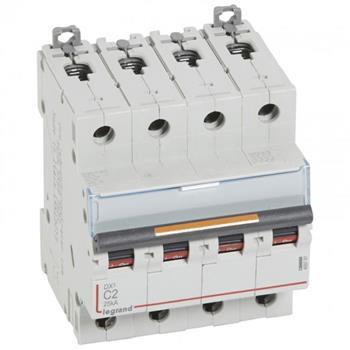 Thiết bị đóng cắt MCB DX3 4P 25KA (C2-C125) 409791-409803