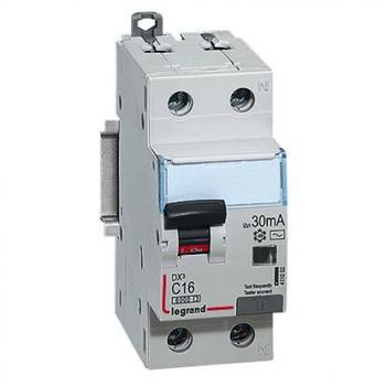 Thiết bị đóng cắt RCBO DX3 1P+N 6kA AC 30mA 410999-411006