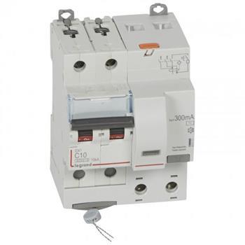 Thiết bị đóng cắt RCBO DX3 2P 6000A AC 300MA 4M (C10-C63) 411171-411178