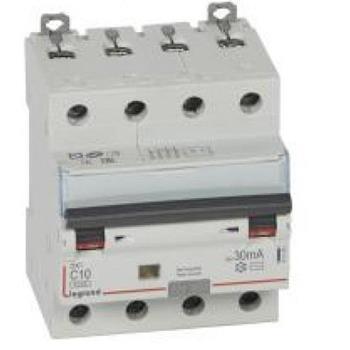 Thiết bị đóng cắt RCBO DX3 4P 6kA AC 30MA 411185-411192