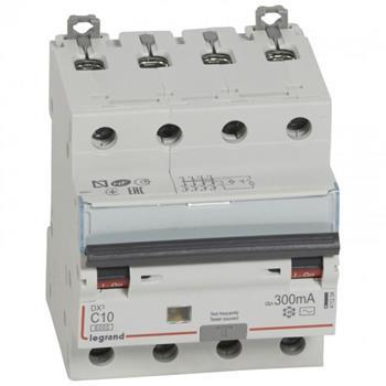 Thiết bị đóng cắt RCBO DX3 4P 6000A AC 300MA 4M (C10-C63) 411204-411211