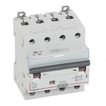 Thiết bị đóng cắt RCBO DX3 4P 6000A A 30MA 4M (C10-C32) 411233-411237