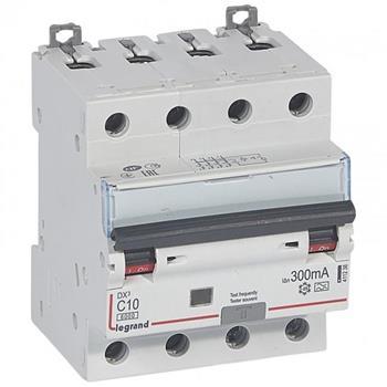 Thiết bị đóng cắt RCBO DX3 4P 6000A A 300MA 4M (C10-C32) 411238-411242