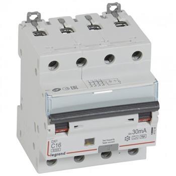 Thiết bị đóng cắt RCBO DX3 4P 6000A HPI 30MA 4M(C16-C32) 411244-411247