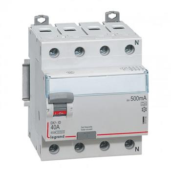 Thiết bị đóng cắt RCCB DX3-ID 4PR A 500MA (25 - 100A A) 411789-411793
