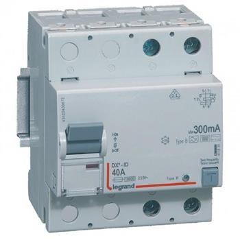 Thiết bị đóng cắt RCCB DX3-ID 2P B 300MA (40 - 63A) 411844-411845
