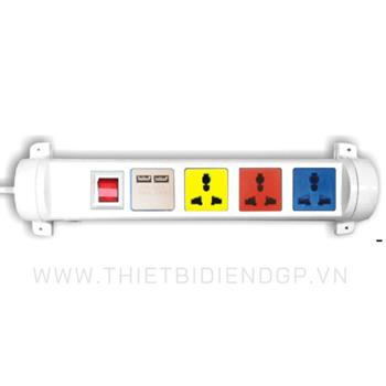 Ổ cắm kéo dài đa năng xoay LiOA 3 mét 4 ổ cắm có cổng sạc USB 5V-1A 4D32WN2XUSB