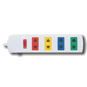 Ổ cắm kéo dài phổ thông có bảo vệ quá tải bằng CB, màu trắng 4S3/5W