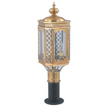 Đèn cây sân vườn Đồng hoa văn cổ điển cao cấp Venus 500077-03 500077-03