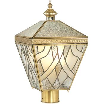 Đèn trụ cổng ngoài trời Đồng chụp thủy tinh hoa văn 3D Venus 500163-03 500163-03