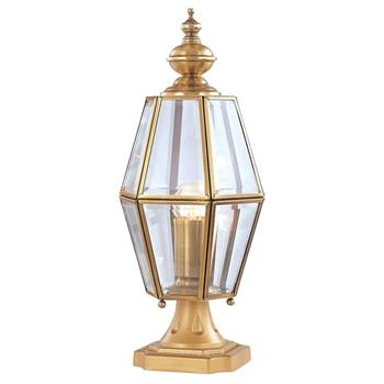 Đèn trụ cổng hàng rào Đồng kiểu ngọn thấp cổ điển Venus 500184-01 500184-01