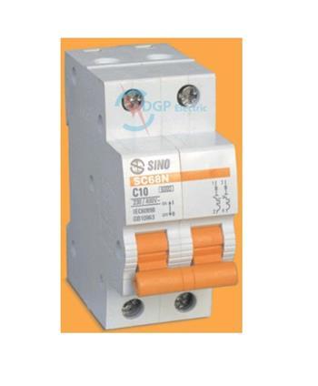 Thiết bị đóng cắt MCB 2P 6A 240VAC - 10kA, 415V - 6kA SC68N/C2006