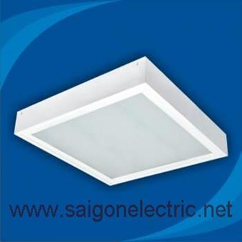 Máng đèn lắp nổi 2 bóng x 0.6m, mặt đèn bằng tấm nhựa Prismatic PSFC218(M/S)