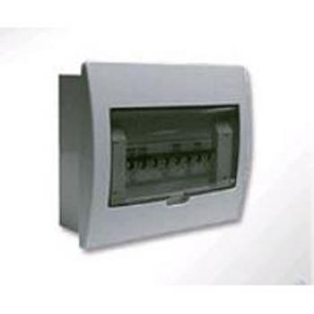 Tủ điện mặt nhựa , đế nhựa chứa 4 - 8 module  E4FC 4/8LA