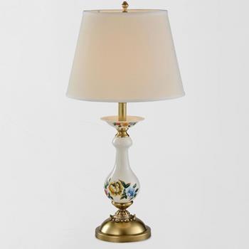 Đèn bàn đồng décor Gốm sứ hoa văn cao cấp Venus 80043-01T 80043-01T