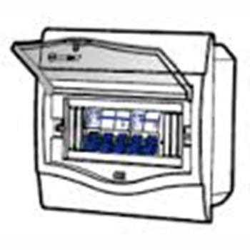 Tủ điện mặt nhựa bóng, đế nhựa chứa 5-8 Module V4FC 5/8SA