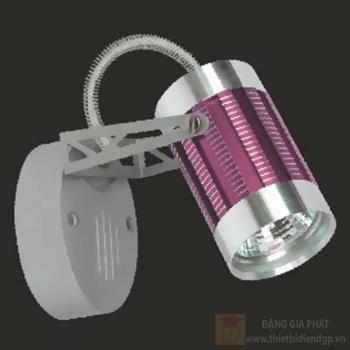 Đèn chiếu điểm vỏ tím, size: H13cm 95049/V