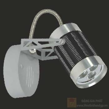 Đèn chiếu điểm vỏ đen led 3W, size: H13cm 95050/B