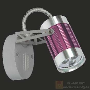 Đèn chiếu điểm vỏ tím led 3W, size: H13cm 95050/V