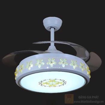 Quạt đèn led 36W, Ø53-110*H50cm, 3 màu ánh sáng 96176