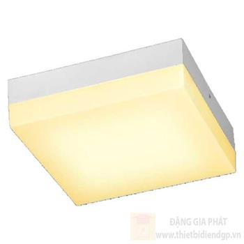 Đèn ốp trần led vuông Ø22cm, ánh sáng trắng & vàng 97189/L