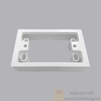 Hộp nhựa nổi dùng cho các mặt, ổ cắm A20 và viền A20-WN AK2237N