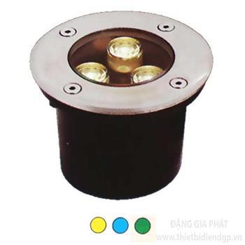 Đèn Âm Sàn IP65, ánh sáng vàng, xanh dương, xanh lá AS