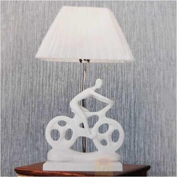 Đèn bàn Sano LED 5W Ø300*H520, vỏ trắng B 6172