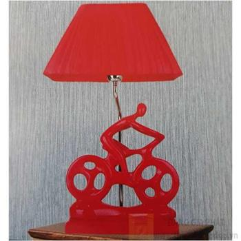 Đèn bàn Sano LED 5W Ø300*H520, vỏ đỏ B 6173