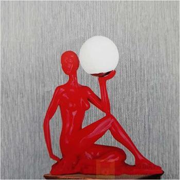 Đèn bàn Sano LED 5W W300*H500, vỏ đỏ B 6176