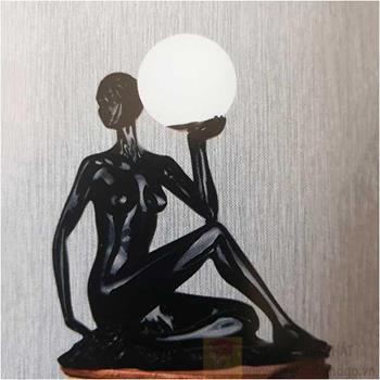 Đèn bàn Sano LED 5W W300*H500, vỏ đen B 6177