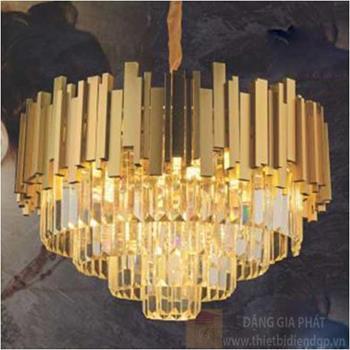 Đèn chùm pha lê Ø600*H400, E14*13 CFL 1239-Ø600